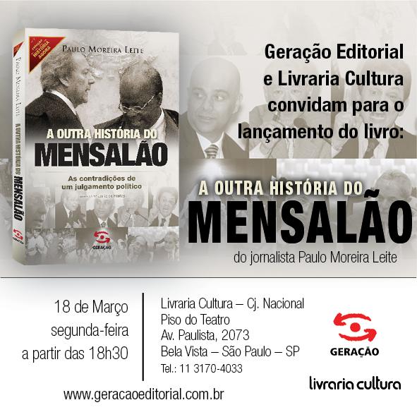 Convite Livraria Cultura