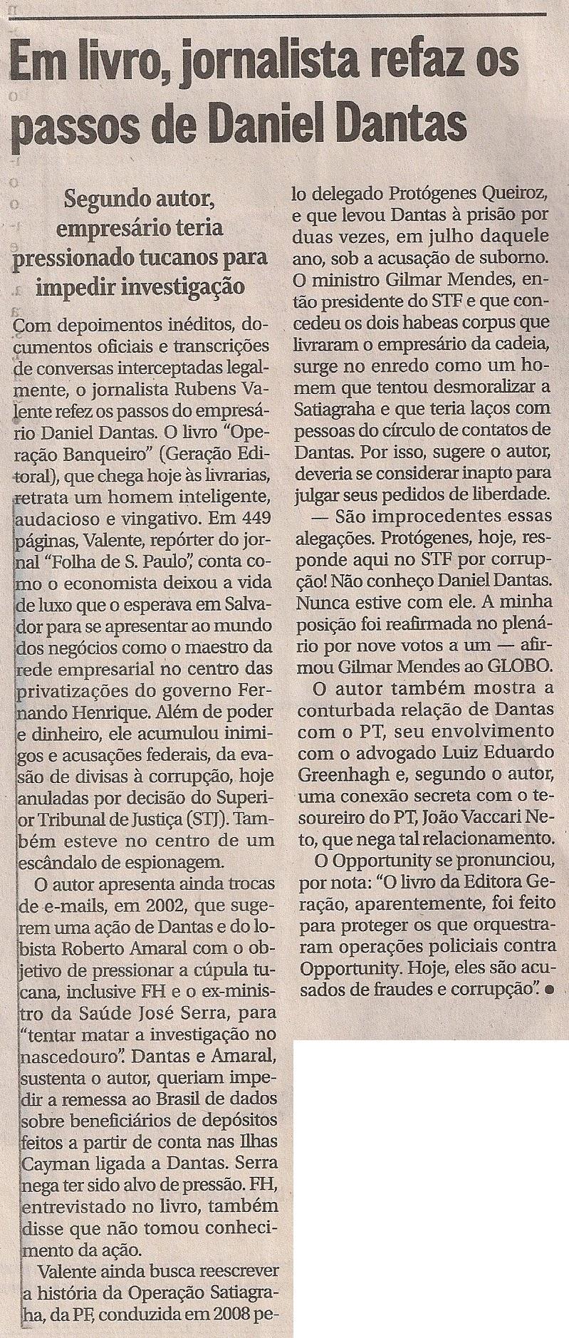 O Globo - 10 de janeiro