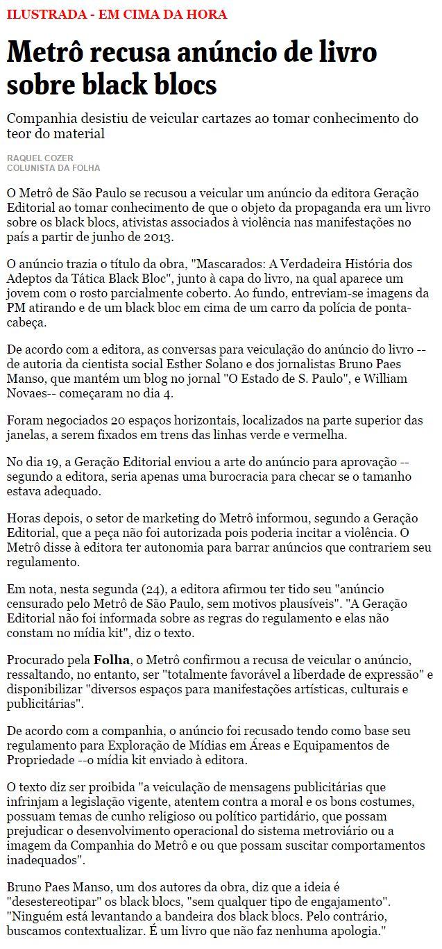 folha blog textto
